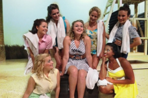 "Ally Mellick and the women of ""South Pacific"""