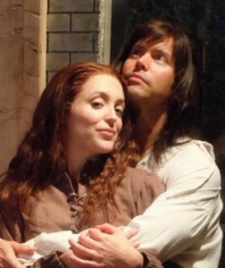 "Brent Vimtrup and Kelly Mengelkoch in ""The Crucible"""