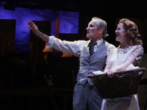 "Bruce Cromer and Annie Fitzpatrick in ""Death of a Salesman"""