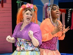"Sara Mackie and Torie Wiggins as the stepsisters in ETC's upcoming ""Cinderella"""
