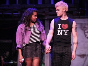 "Lisa Glover and Tyler Kuhlman in ""Rent"""