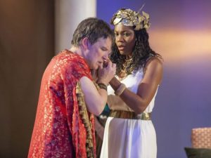 NIcholas Rose and Chantal Jean-Pierre in 'Antony and Cleopatra""