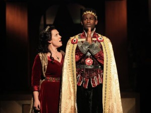 "Kelly Mengelkoch and Darnelle Pierre Benjamin in ""Henry VI"""