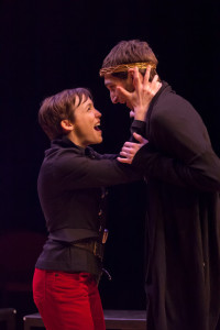 "Sara Clark and Patrick Phillips in ""Saint Joan"""
