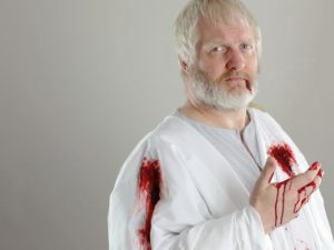 "Jim Hopkins as Caesar in CSC's ""Julius Caesar"""