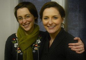 Sara Clark (Saint Joan) with director Lindsey Augusta Mercer (director)