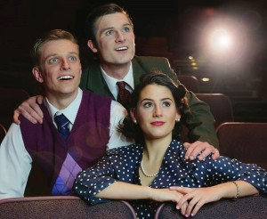 "Cody Oppel, Sophia DeWald and Andy Burns in NKU's upcoming ""Once in a Lifetime"""