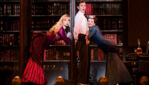 "Kristen Beth Williams, Kevin Massey,and Kristen Hahn in ""A Gentleman's Guide to Love and Murder"""