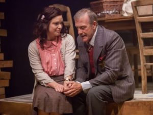 "Courtney Lucien and Barry Mullholland in ""The Diary of Anne Frank"""