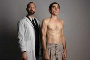 "Brent Vimtrup and Giles Davies in ""The Elephant Man"""
