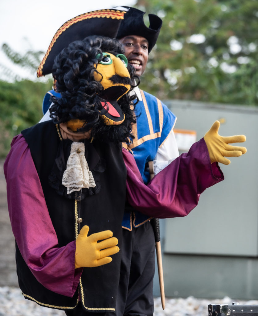 A piret and a pirate puppet
